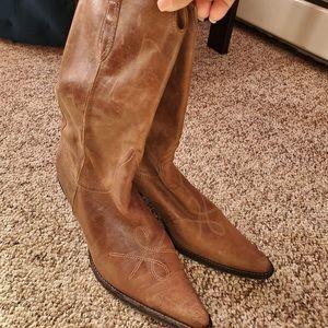 Franco sarto leather high heels size 10